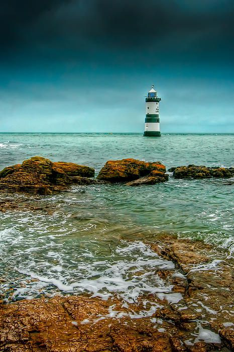 Penmon Point Lighthouse, Penmon Point, Southeast Anglesey, Wales, UK