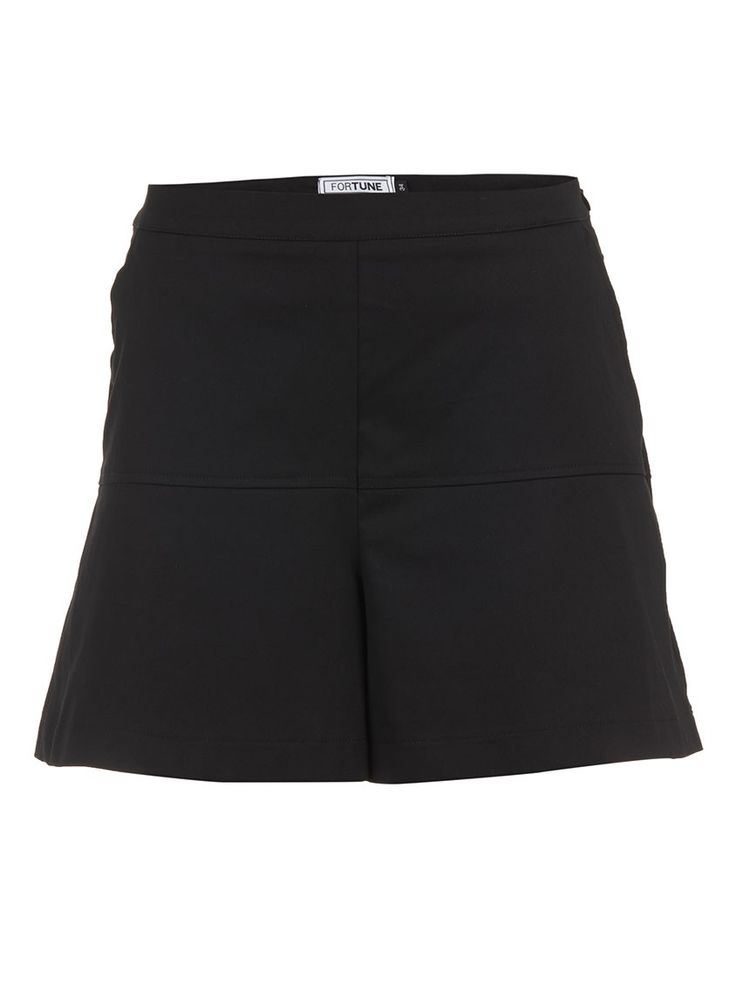 Panelled Shorts Black
