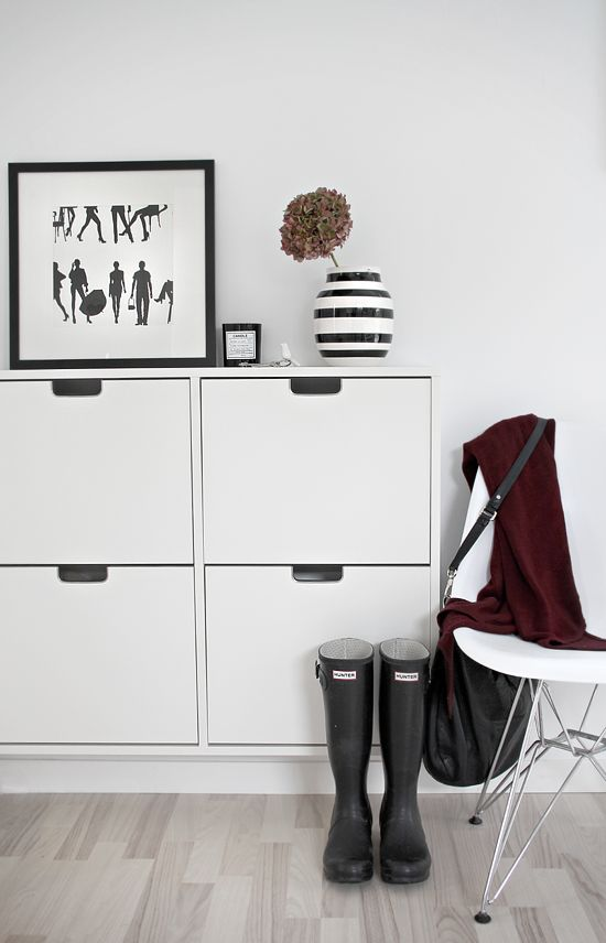 Organized in the hallway; IKEA shoe cabinet: STYLIZIMO BLOG