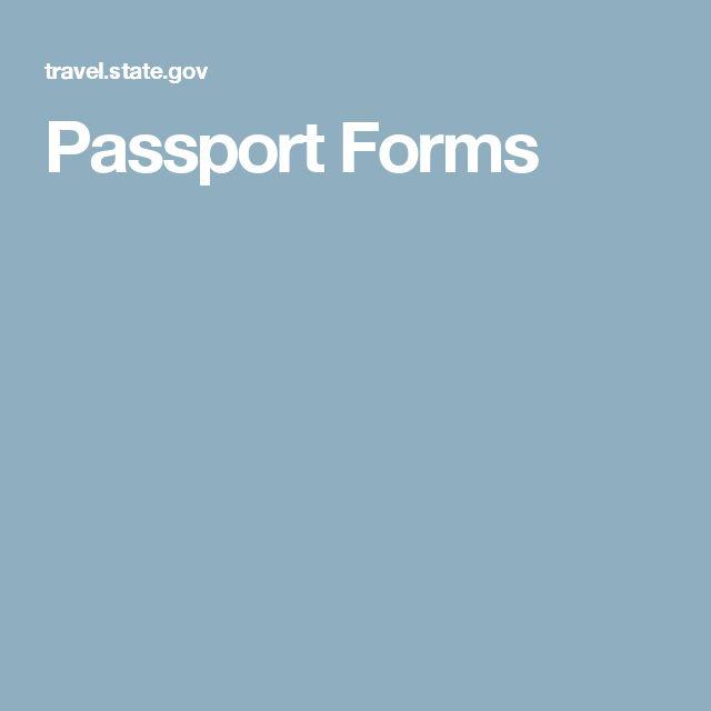 Passport Forms