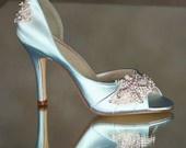 wedding blue white ivory