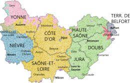 Borgogna-Franca Contea – Mappa