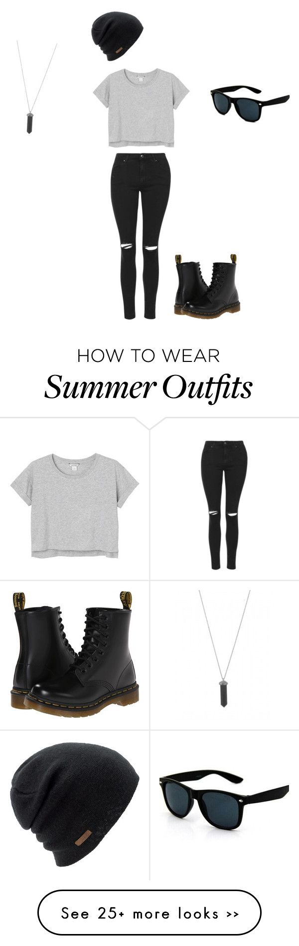 """Outfit #1"" by katiej1028 on Polyvore featuring Topshop, Monki, Dr. Martens, Coal and Karen Kane"