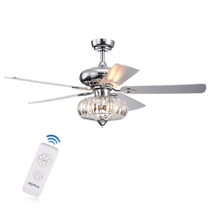 52 Kenmure 5 Blade Ceiling Fan With Remote Light Kit Included