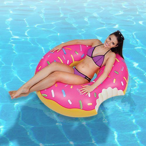 Aufblasbare Luftmatratze Donut Schwimmringe Luftmatratze Schwimmen
