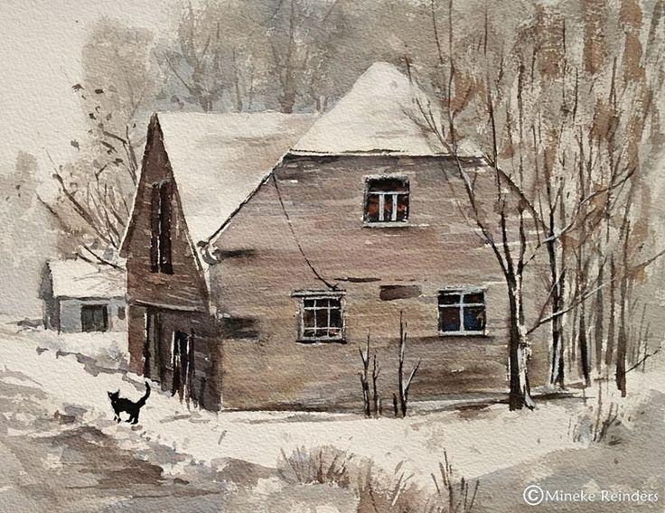 Kış Yuvası - Maziye saklayacağız biz bu aşkı İyiliklerle güzelleşen  Meşe ağacının ağlayışına sığınacağız ikimiz de Belki hiç bahar gelmeyecek göğümüze Ama bileceğiz ki, kış daima bizimle Ayrı yuvaların -ayrı kanatları altında  Huzurun içinde beyaz bir kuş gibi,sıcacık kalacak anılarımız  Bizim de kalbimizde.  (Meral Meri)  art Mineke Reinders