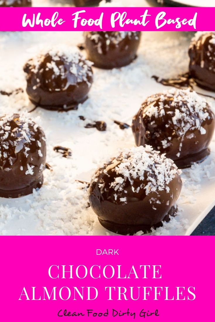 Dark Chocolate Almond Truffles Recipe Dark Chocolate Almonds