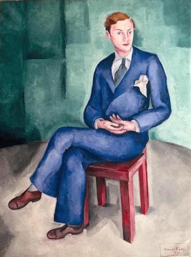 Art Decon in #Portugal - Mário Eloy (1900-1951). Retrato do bailarino Francis. 1930. Oil on canvas. MNAC-Museu do Chiado - #Lisbon