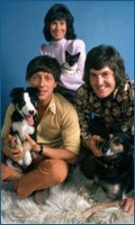 Blue Peter. John, Val and Pete - the best BP presenters ever, along with Shep!