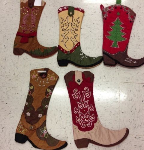 Cowboy Cowgirl Boot Christmas Stocking Nwt You Pick Ready