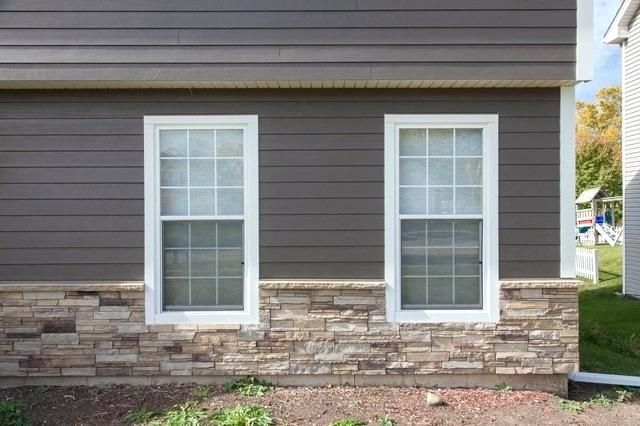 Tradition Siding With Stone Siding Stone Exterior Houses Exterior House Renovation Exterior House Colors