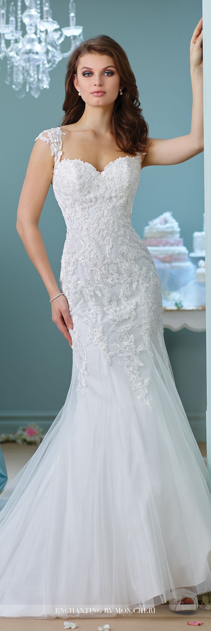 Trumpet Style Wedding Dresses Lace : Trumpet wedding dresses gown g