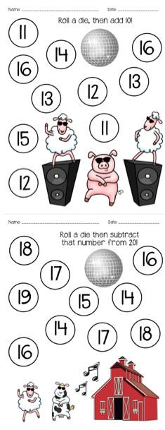 Gangnam Style roll & cover for first grade + more math and literacy activities! $1.50