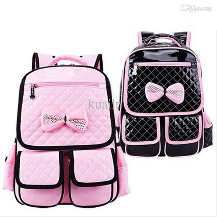 #Childrens Backpack Wholesale New 2015 Fashion School Backpacks Schoolbag For Primary Girl Pu Rosettle Children Shoulder School Bags For Girls Kids Ccc368 Newest Backpacks From Kuailt, $32.33  Dhgate.Com