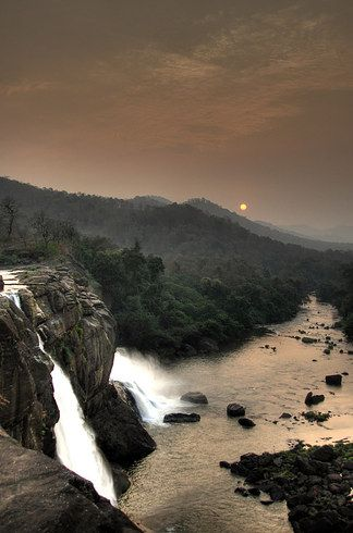 Athirappilly Falls is situated in Athirappilly panchayath in Thrissur district of Kerala, on the southwest coast of India
