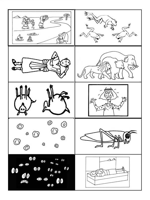 10 Plagues Printable Don T Understand Why The Fourth Ten Plagues Of Coloring Pages