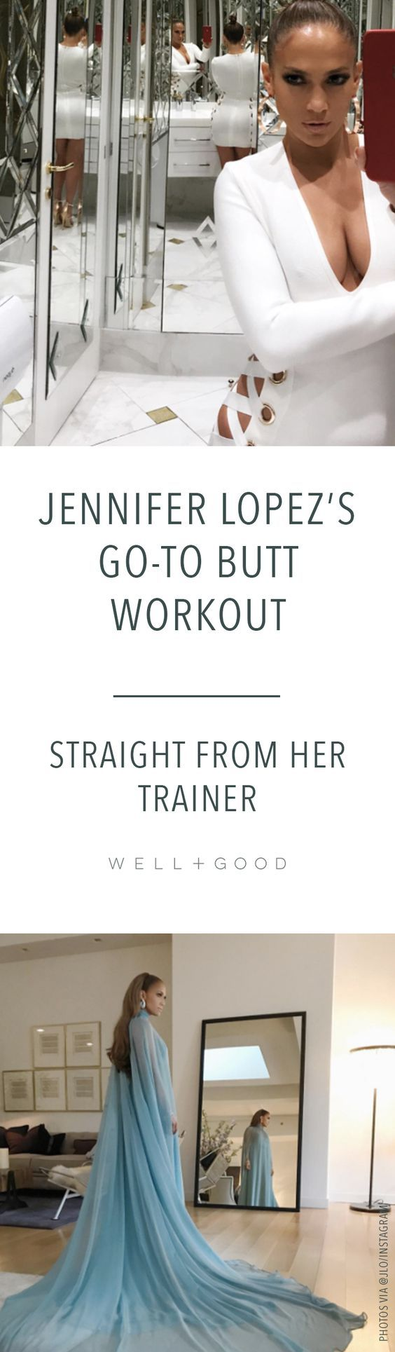 Jennifer Lopez's butt workout