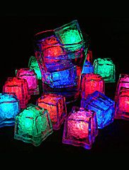 20 - LED Ice Cubes Light Colour Changing Lights – USD $ 25.49