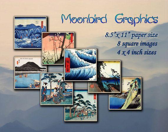 JAPANESE ART  Hiroshige's print costers  by MoonbirdGraphics