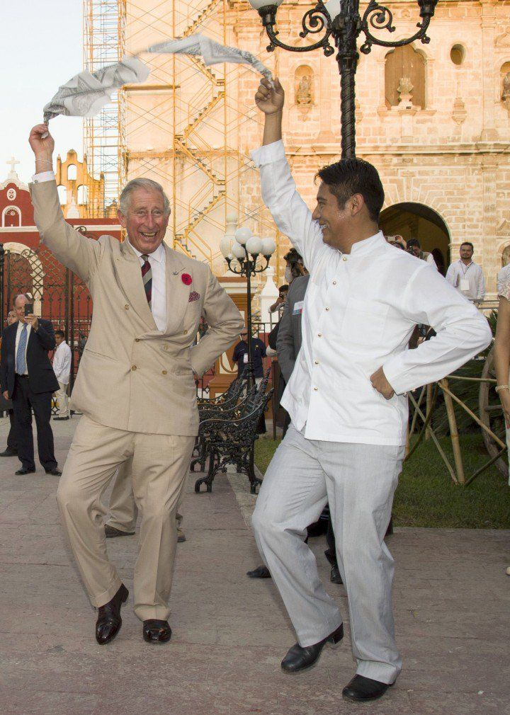 The royals sure like dancing but none as much as Prince Charles!