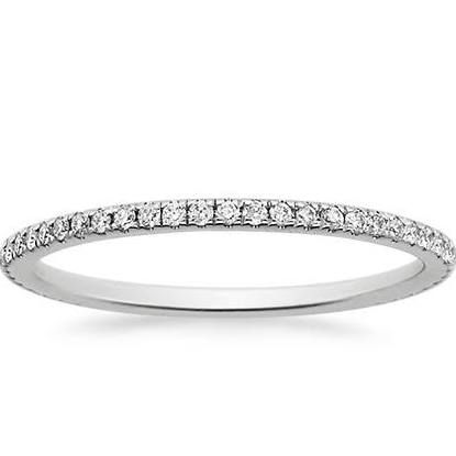 platinum wedding bands for women. This would look gorgeous with my engagement ring.
