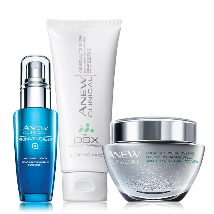 Need an expert? For results so remarkable, we had to call them clinical! An $83 value, the collection includes:Skinvincible Multi-Shield Lotion Broad Spectrum SPF 50 - 1 oz. net wt. A $36 value.Absolute Even Spot Correcting Hand Cream SPF 15 - 2.6 oz. net wt. A $17 value.Overnight Hydration Mask - 1 oz. net wt. A $30 value.