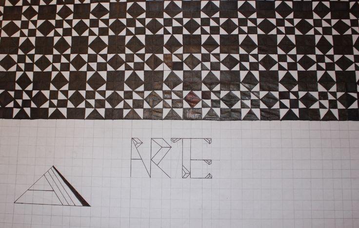 Tipografia, modulo y logo. Expresion grafica IA