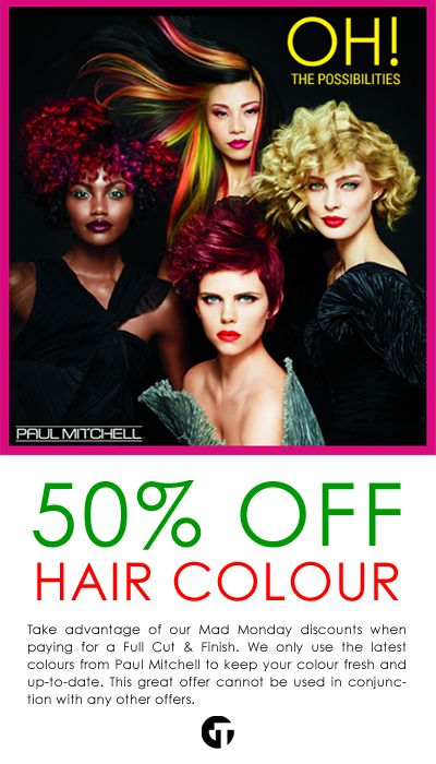 Facebook flyer for OTT to promote their amazing hair colour offer featuring Paul Mitchell's new Origami range.