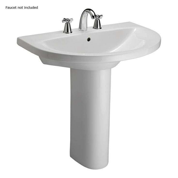 Lowes Pedestal Sink In H Jumeirah White Vitreous