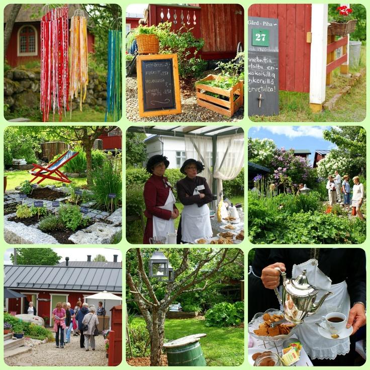 Gardens in Kristinestad, Finland during Öppna Portar-Avoimet Portit