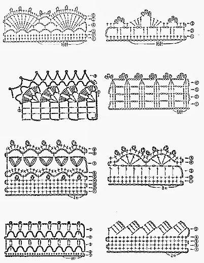 Oltre 25 fantastiche idee su bordi all 39 uncinetto su for Schemi bordure all uncinetto per asciugamani