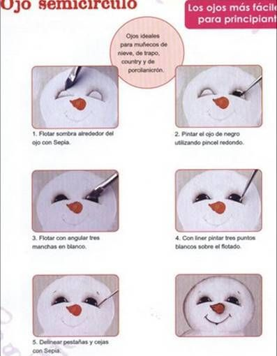 how to paint a snowman face