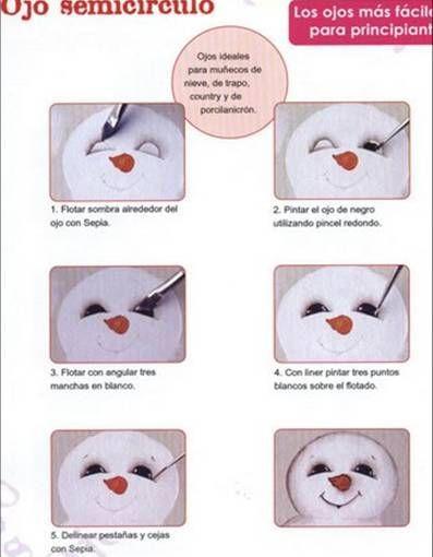 com pintar ulls de nino de neu.