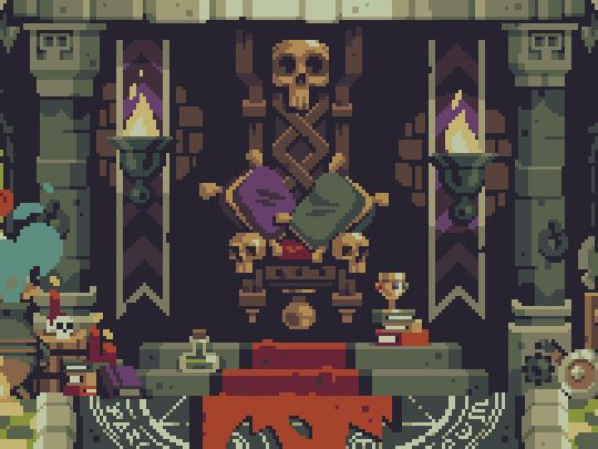 This is beyond-beautiful background art from Curses 'N Chaos by tributegames, pixeled to perfection by Stéphane Boutin a.k.a. jgsboutain. Check out the game's release trailer and follow Tribute Games...