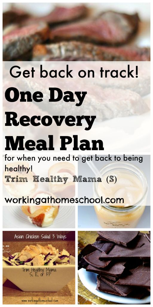 S: One Day Meal Plan to Get You Back on Trim Healthy Mama