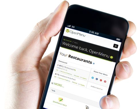 Sharing your restaurant's menu with the world - OpenMenu™