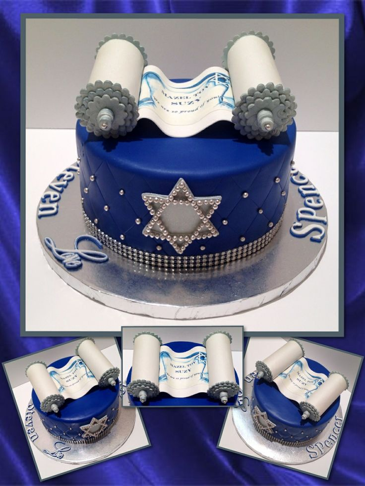 Bat Mitzvah Cake ~ #Torah  #Star of David                                                                                                                                                                                 Más