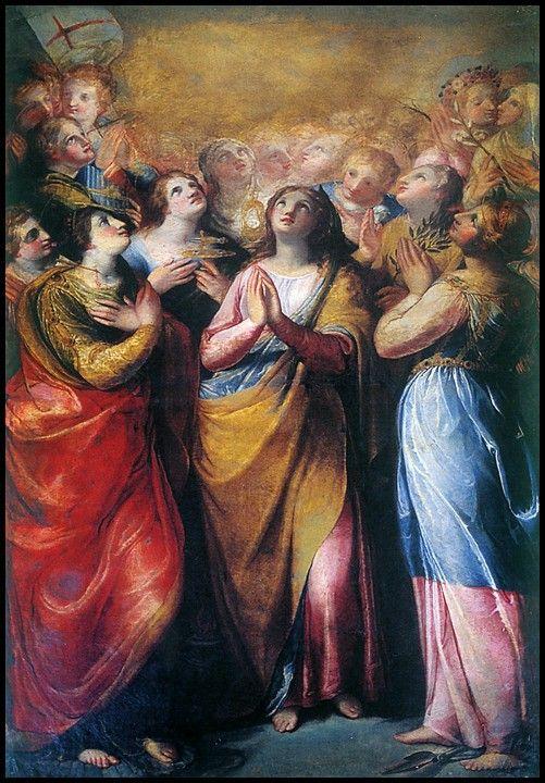Le Sante Vergini Palermitane di Giuseppe Valeriano e Scipione Pulzone (attr.) Palermo, Chiesa di Casa Professa