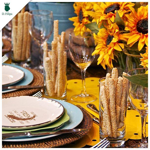 Que tal montar uma mesa alegre para o almoço de hoje?