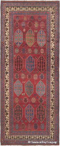 Antique Kazak Rug Featured In The Boston Globe