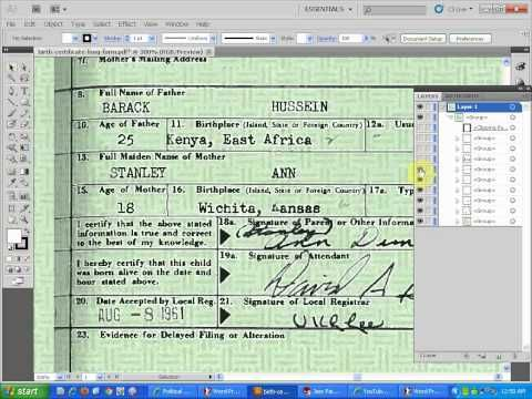 "Proof Obama's 4/27/11 ""Long Form Certificate of Birth"" is Forged! - YouTube"