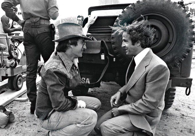 Spielberg Truffaut On The Set Of Close Encounters Of The Third Kind Cine Arte Fotos