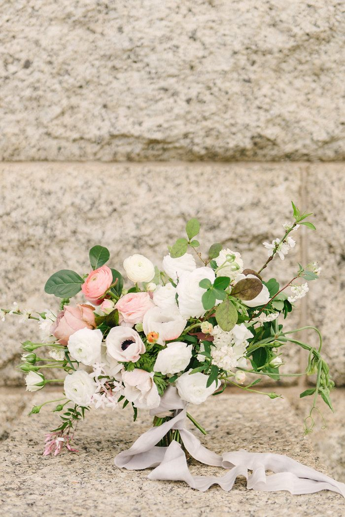 This wedding bouquet is classic with a touch of special!
