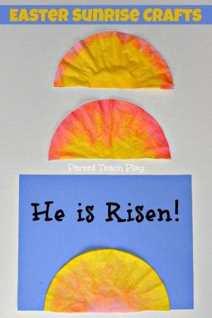 Christ risen sunrise craft! I am so doing this for our Sunday school class