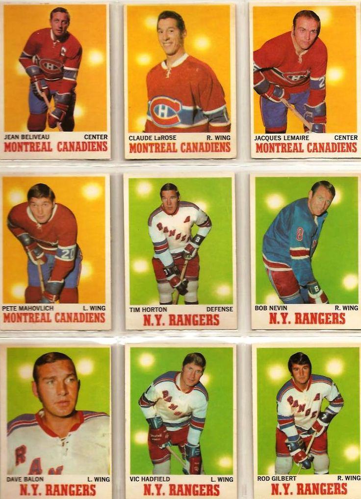 55-63 Jean Beliveau, Claude LaRose, Jacques Lemaire, Pete Mahovlich, Tim Horton…