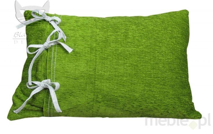 Oryginalna zielona poduszeczka z kokardami od producenta Eva, Black Cat Design - Wyposażenie wnętrz