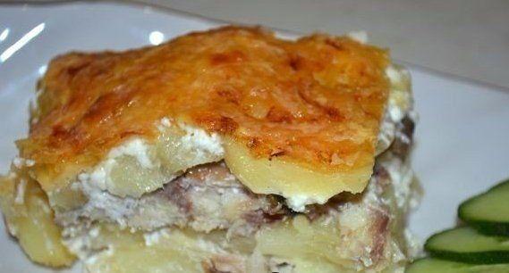 Картофельная запеканка со скумбрией.Рецепт с пошаговыми фото.   Empanada.RU