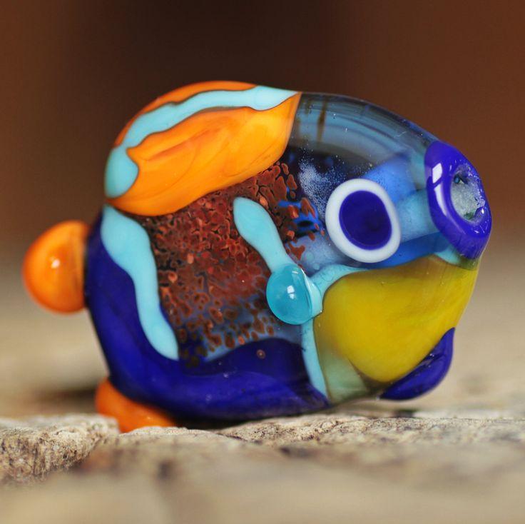 lampwork bead fish