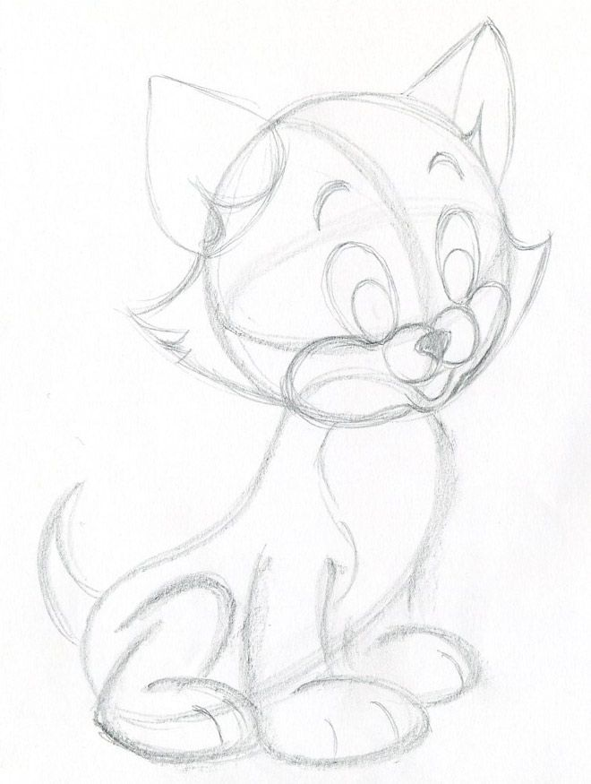 Learn how to draw cartoon kitten. Quick, simple, easy and very cute.
