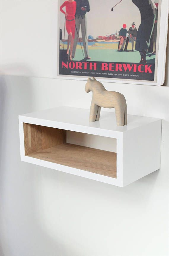 White Oak Floating Night Stand | Floating Bedside | Table Modern Floating  Shelf | Scandinavian Style | White Furniture | Nursery NO 05 EP
